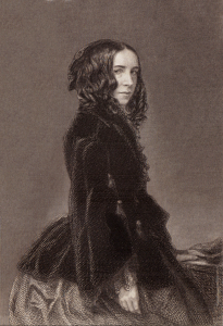 Engraving of Elizabeth Barrett Browning.
