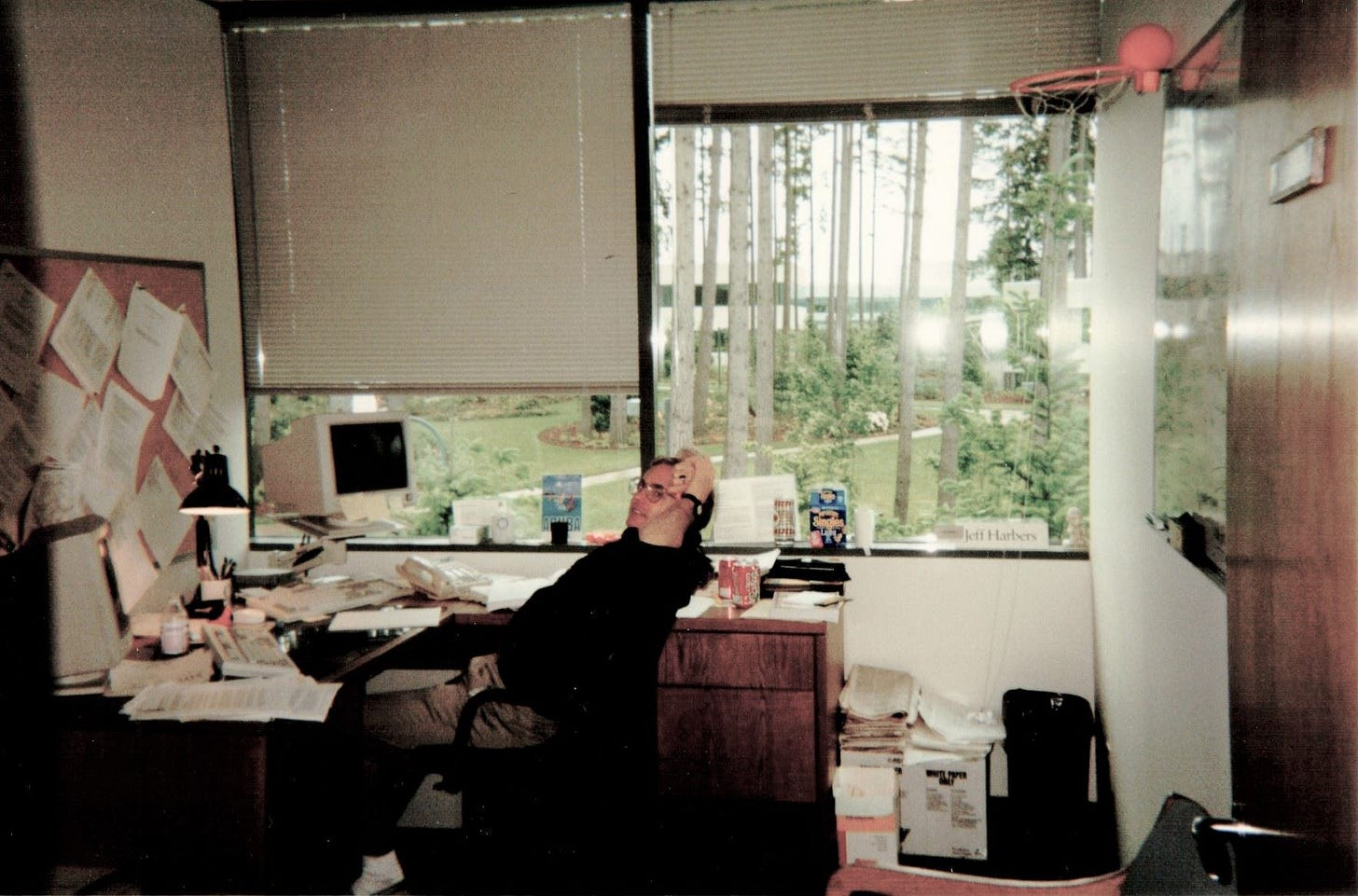 Photo of Jeff Harbers in his office.