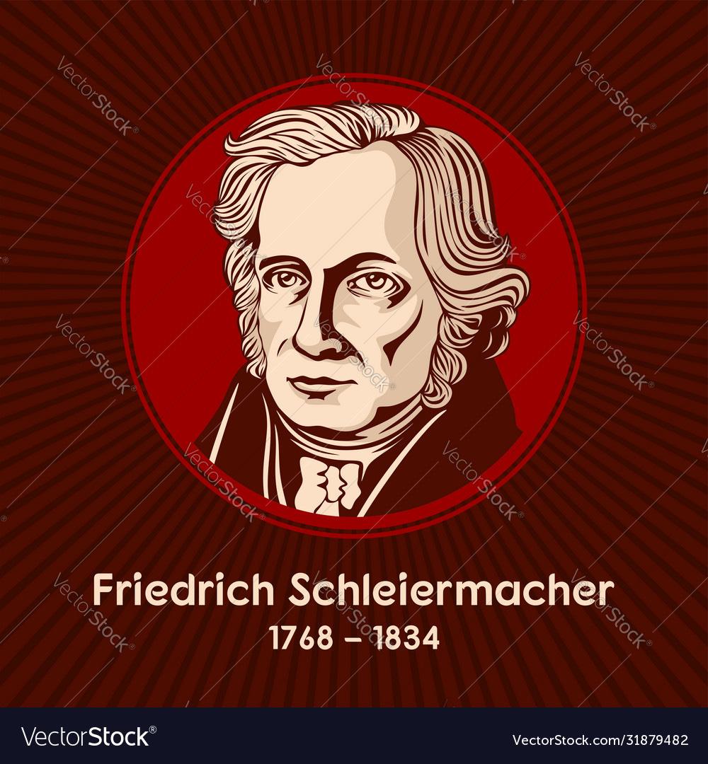 Friedrich daniel ernst schleiermacher Royalty Free Vector