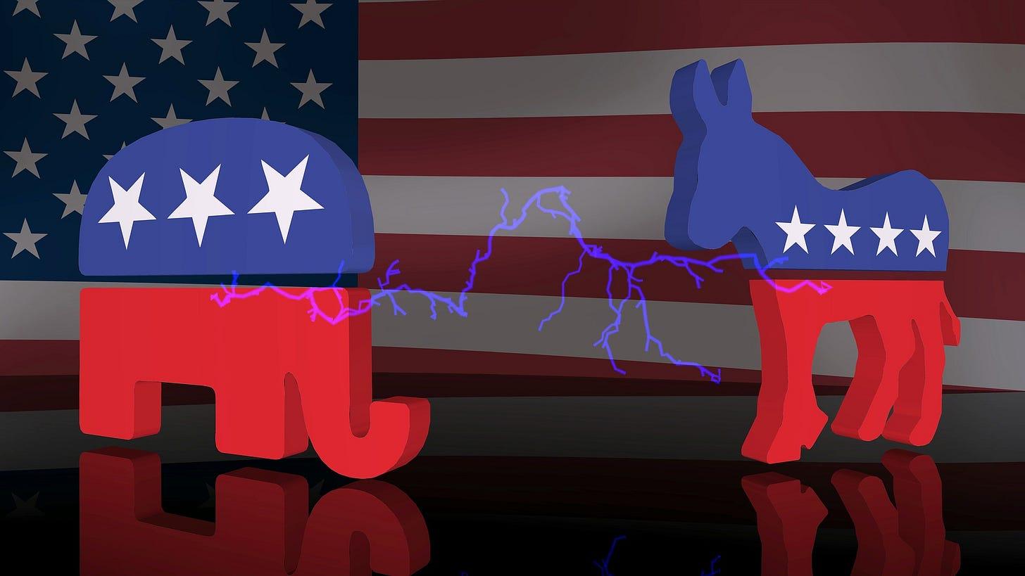 Republican and Democrat logos