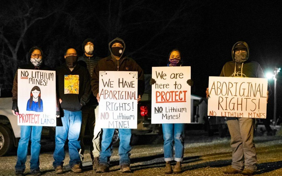 Members of Fort McDermitt Tribe Protesting