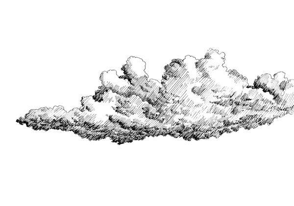ef28e335428791.56f6bd9bc708a.jpg (600×421) | Drawing sky, Cloud drawing,  Black pen drawing