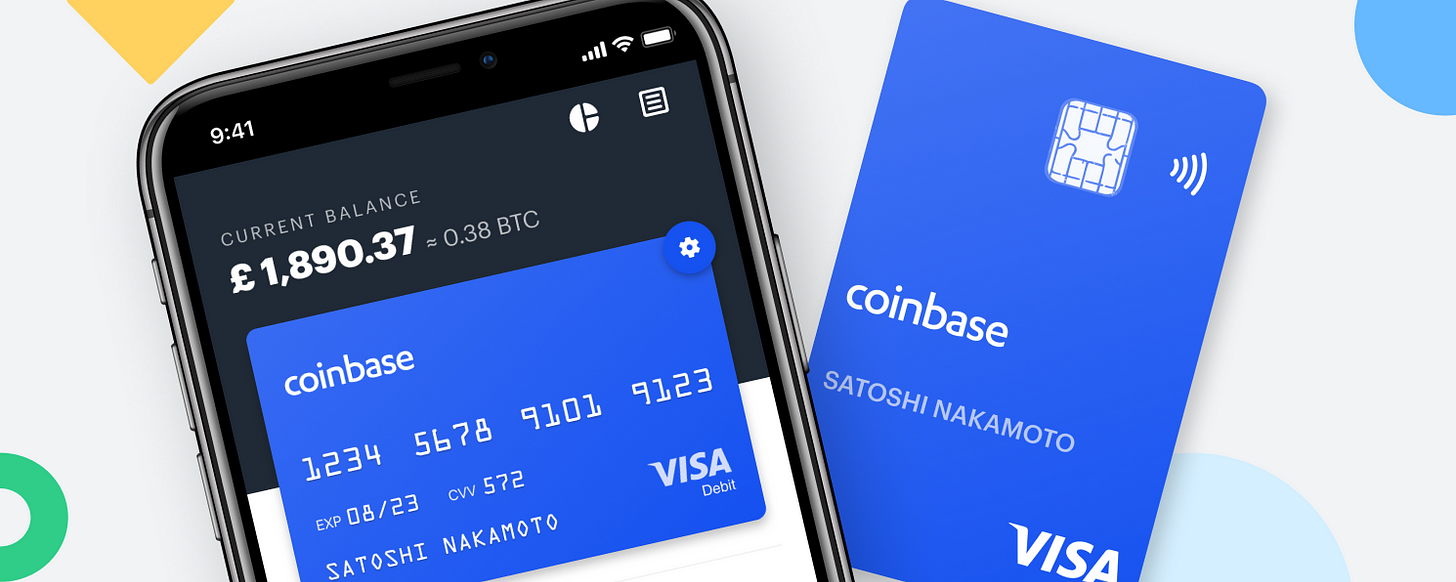 Spend your crypto instantly with Coinbase Card   by Zeeshan Feroz   The  Coinbase Blog