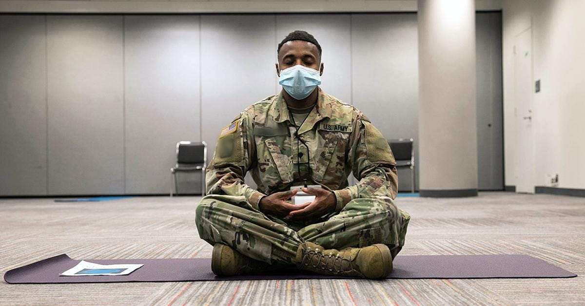 """Military OneSource on Twitter: """"Empty your mind and learn to focus on  positive thoughts with a Mindfulness Meditation Webinar Tuesday, May 5 at 8  p.m. EDT. Register here: https://t.co/6Vg5l76AxM.… https://t.co/Rgpu7pKGyv"""""""
