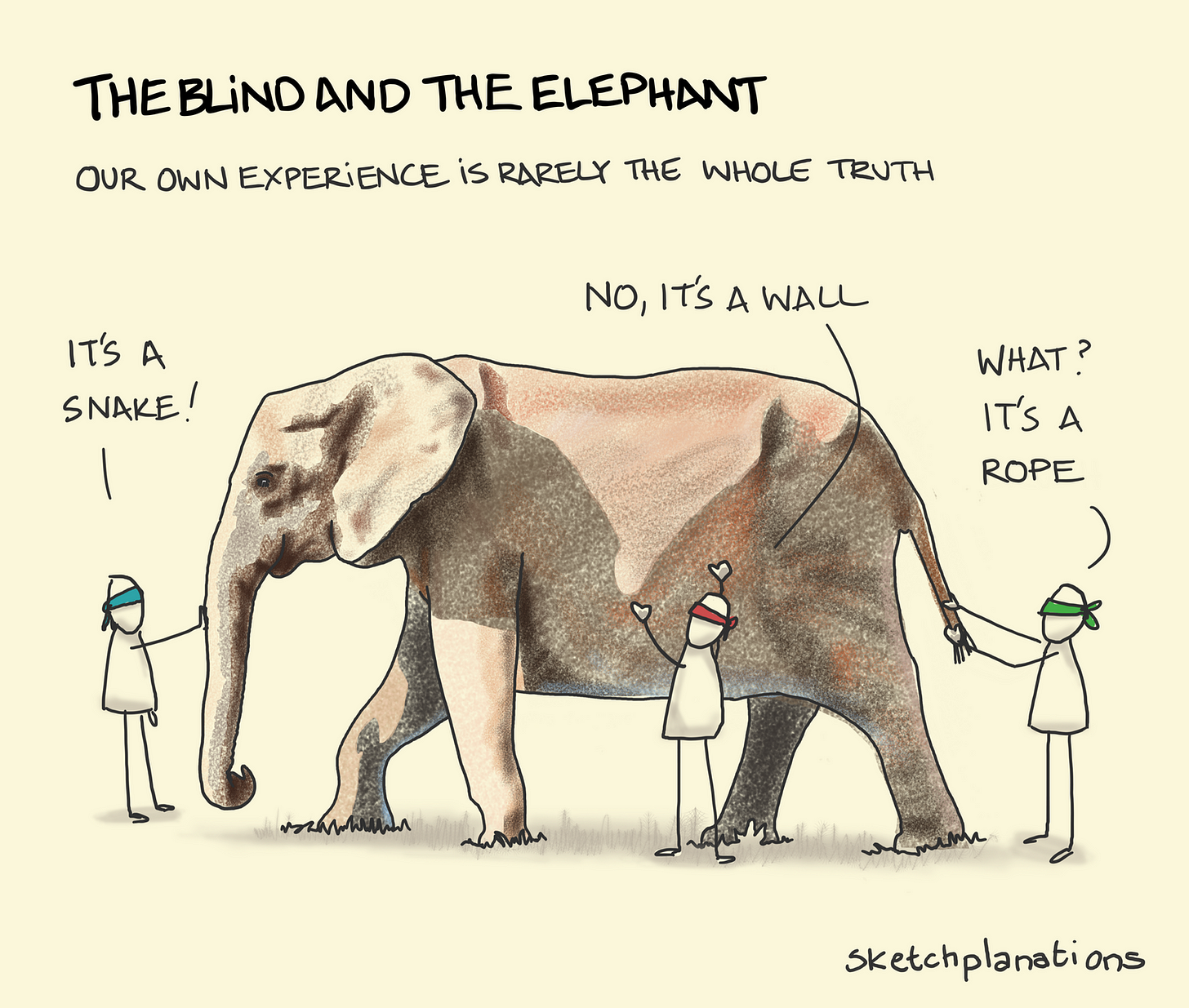 The blind and the elephant - Sketchplanations