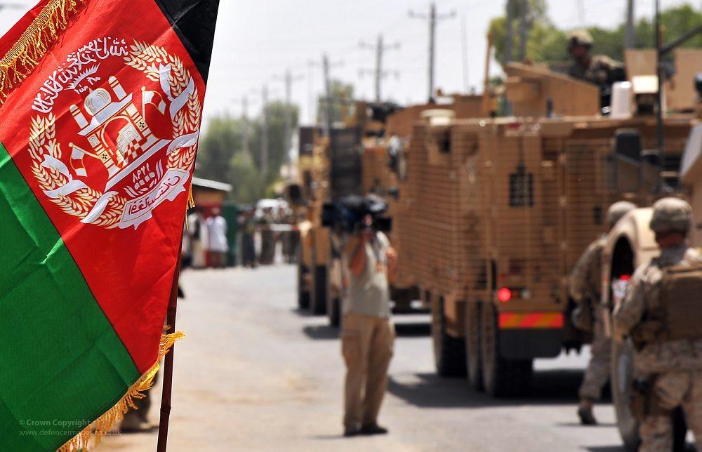 Afghanistan Flag During Hand Over of Lashkar Gah to Afghan… | Flickr