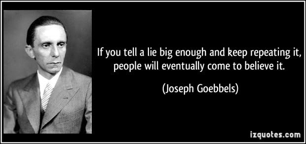 """CogBlog – A Cognitive Psychology Blog » Unraveling the mechanism behind """"a  lie repeated a thousand times becomes truth"""": A cognitive account"""