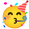 Partying Face on Google Android 11.0