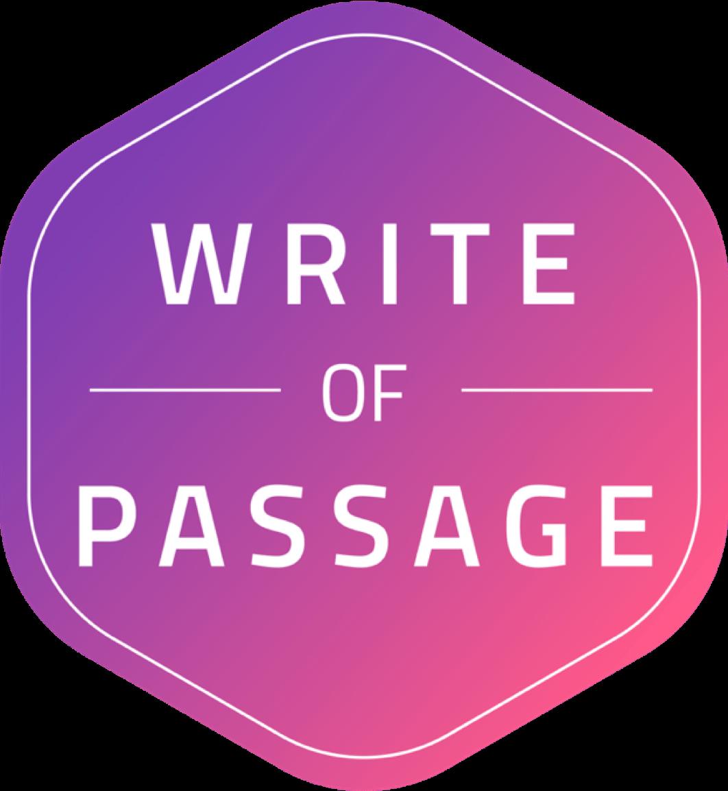 Premium Edition - Write of Passage