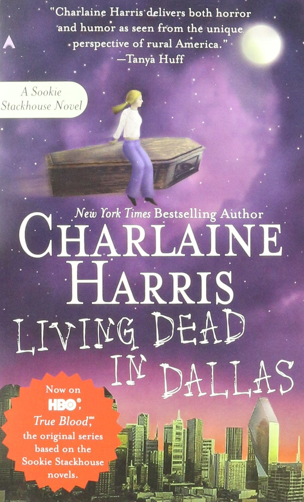 The cover of Charlaine Harris' 2002 book, Living Dead in Dallas (Ace Books)
