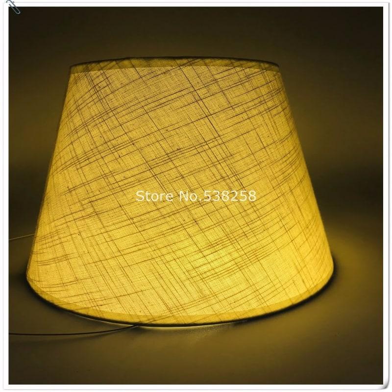 2031676604 E27 Art Deco Lamp Shades For Table Lamps Pvc Beige Fabric Lampshade Round Lamp Shade Modern Style Lamp Cover For Desk Lamp Lights Lighting Lighting Accessories