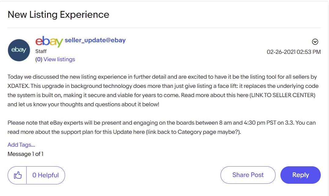 eBay Spring Seller Update New Listing Experience