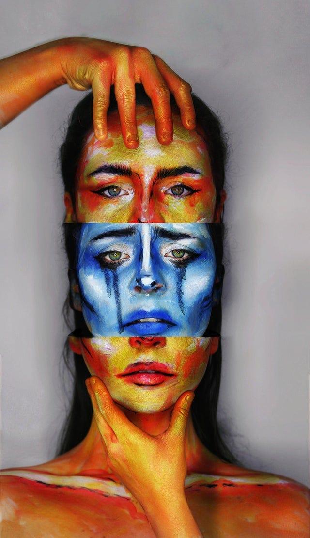 r/Art - Mental Health, Me, Makeup and Photoshop, 2021