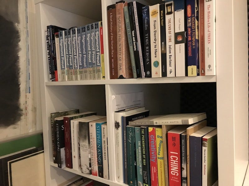 Image of my bookshelf at home