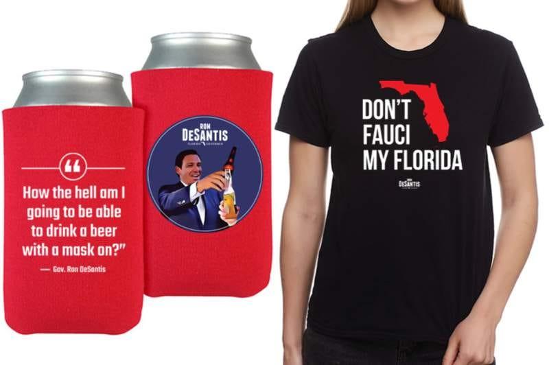 Don't Fauci My Florida:' DeSantis' official merchandise takes aim at virus  expert