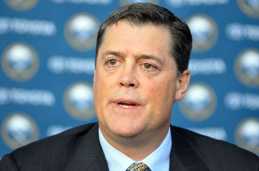 Sabres owner Terry Pegula only began showing interest in Pat LaFontaine  recently   Buffalo Hockey Beat