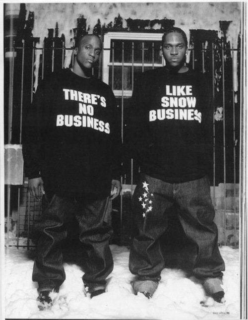 r/HipHopImages - There's no business like snow business. Clipse