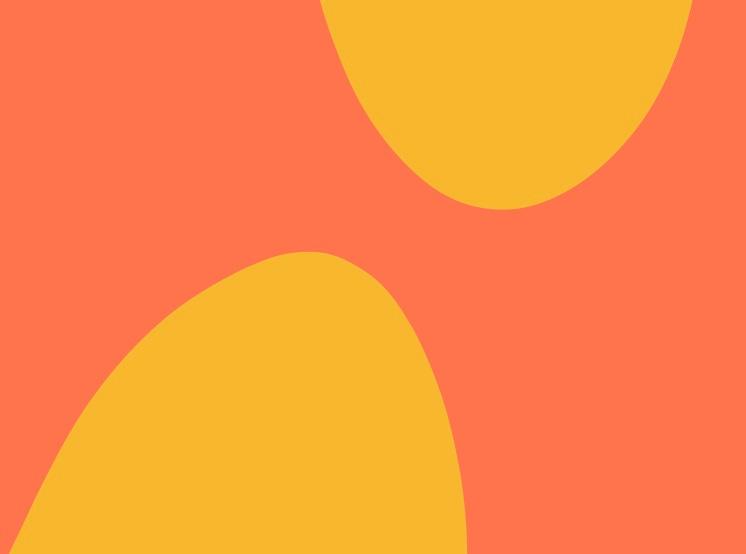 Orange and yellow swirls.