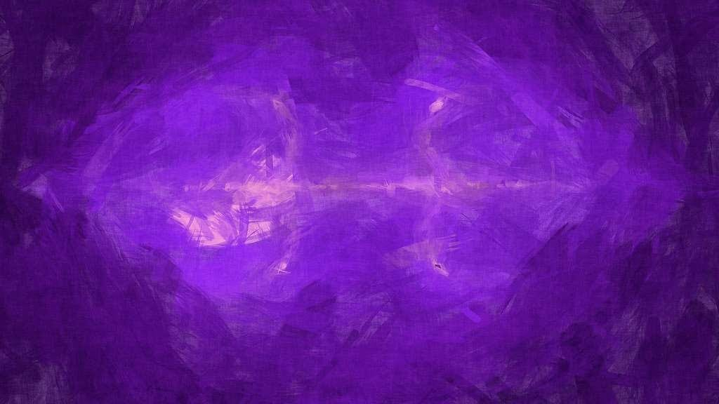 Evocative abstract painting with purples and pinks, evoking creation out of the formless void