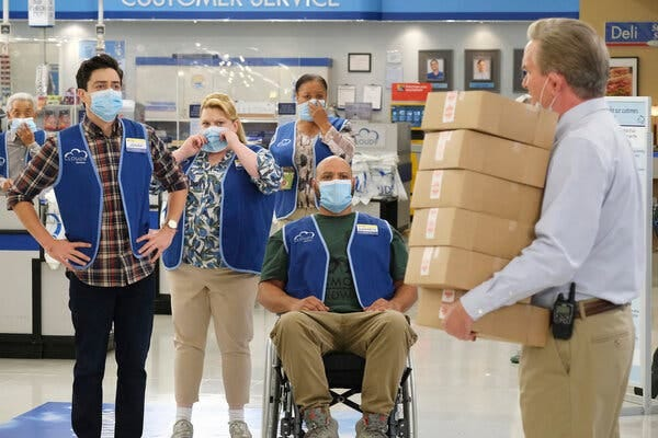 """The showrunners of """"Superstore"""" felt a responsibility to show the pandemic's impact on retail employees."""
