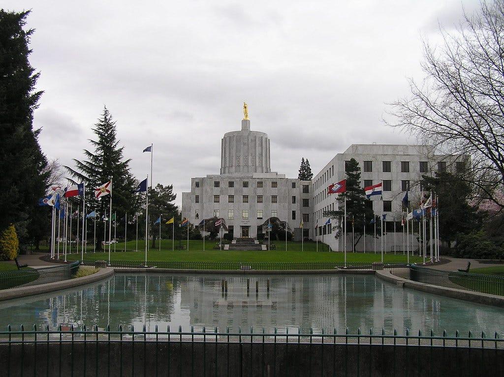 The Oregon Capitol in Salem