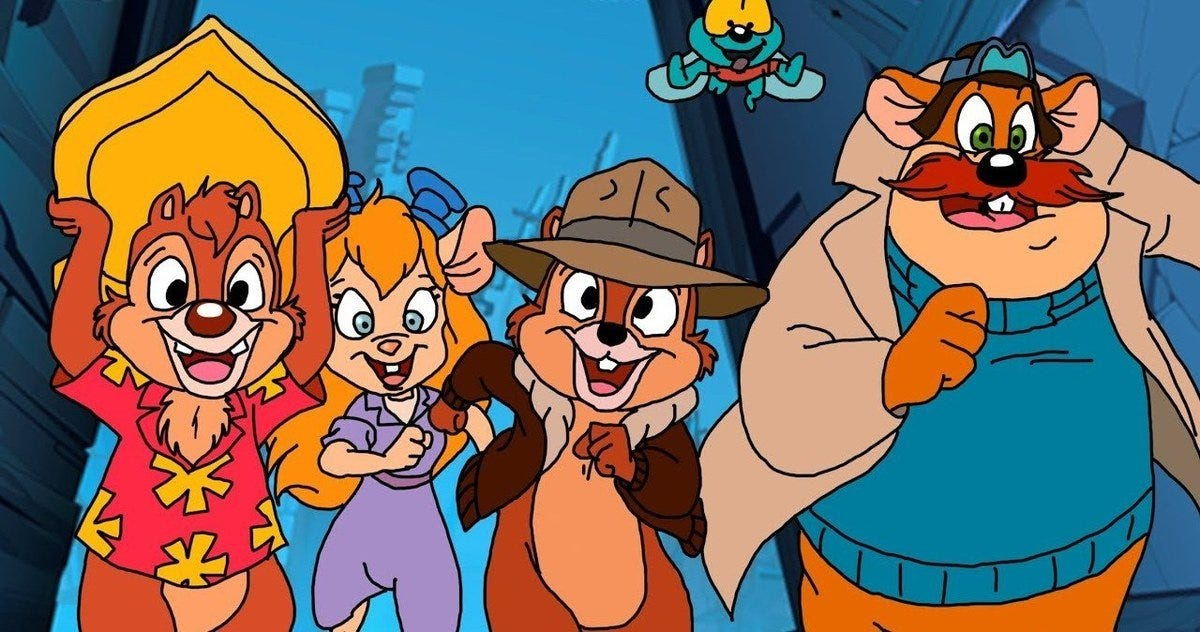 Image result for chip n dale rescue rangers