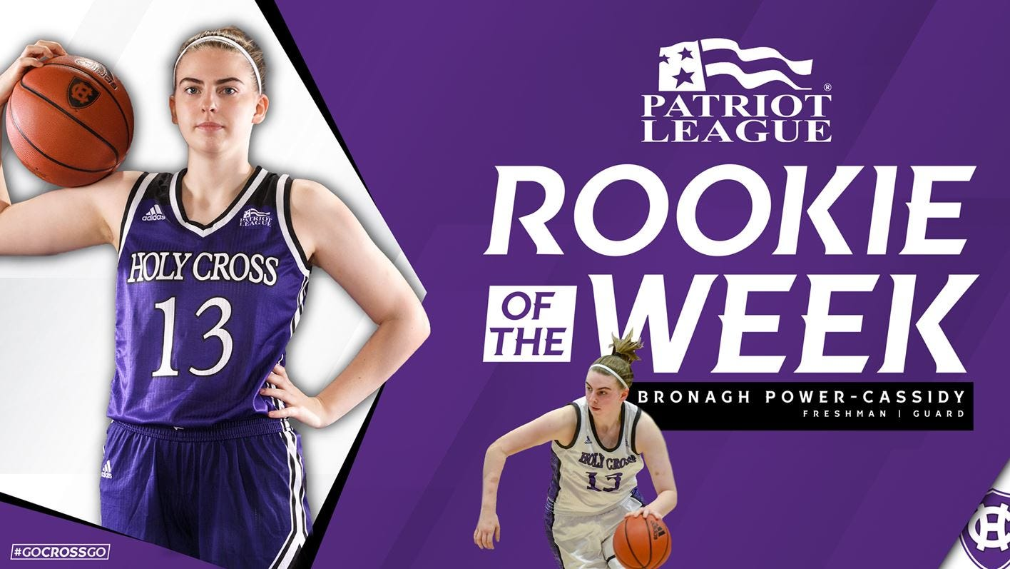 Bronagh Power-Cassidy Patriot League Rookie of the Week
