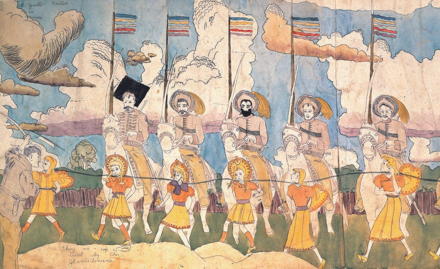 """The Mysterious Story of Outsider Artist Henry Darger & the Vivian Girls of the """"Realms of the Unreal"""""""
