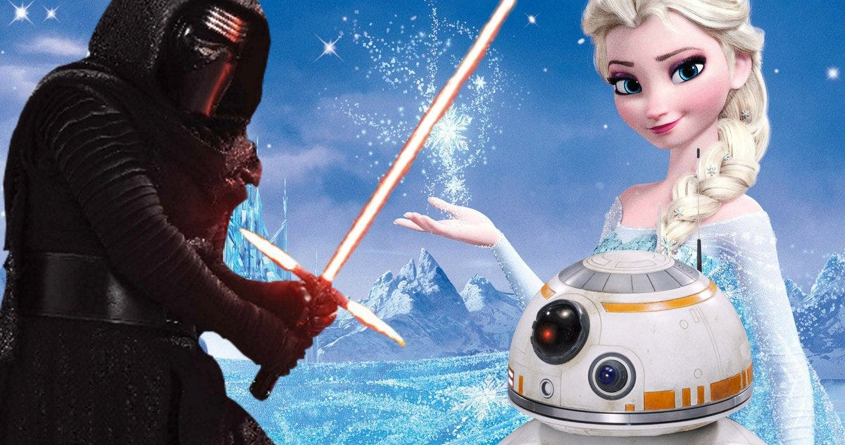 Image result for star wars and frozen