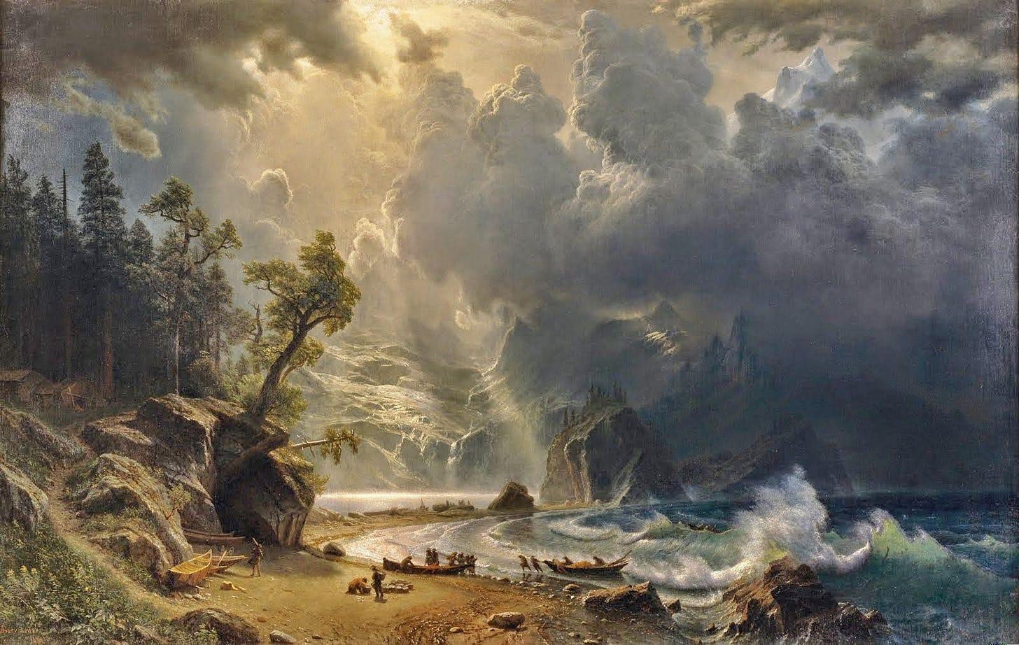 Albert Bierstadt, Puget Sound, Pacific NW | Albert bierstadt paintings,  Seattle art museum, Albert bierstadt
