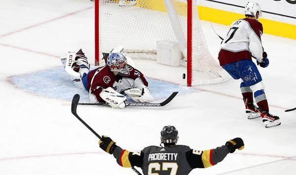 Blog: Golden Knights beat Avalanche in six games, advance to Stanley Cup  semifinals - Las Vegas Sun News