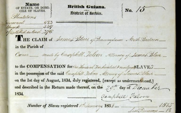 Legacies of British Slavery