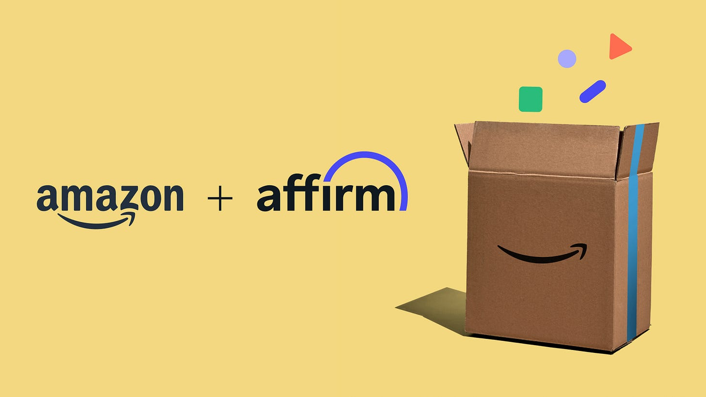 Amazon and Affirm logo lockup.