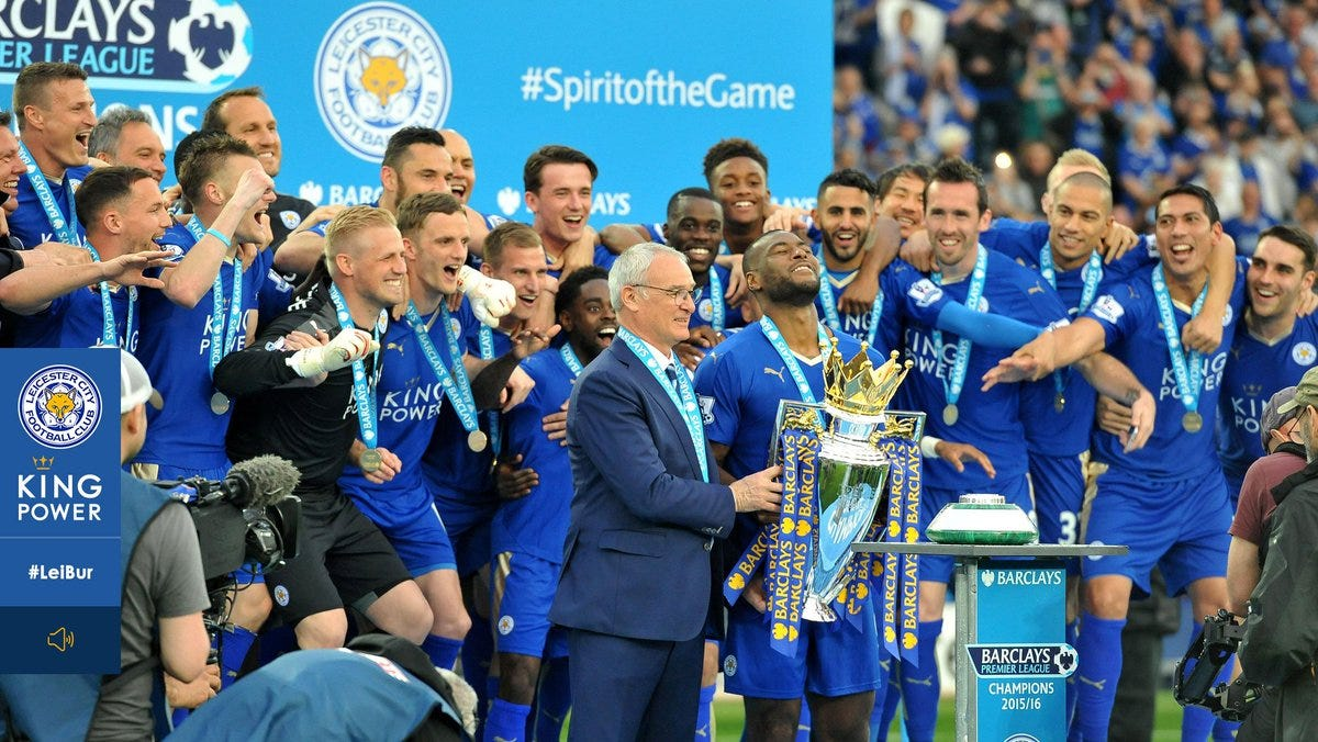 Image result for leicester city 2015 champion