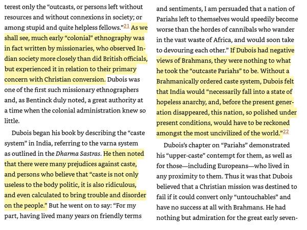 (Dirks, Nicholas B.. Castes of Mind Princeton University Press. Kindle Edition. )