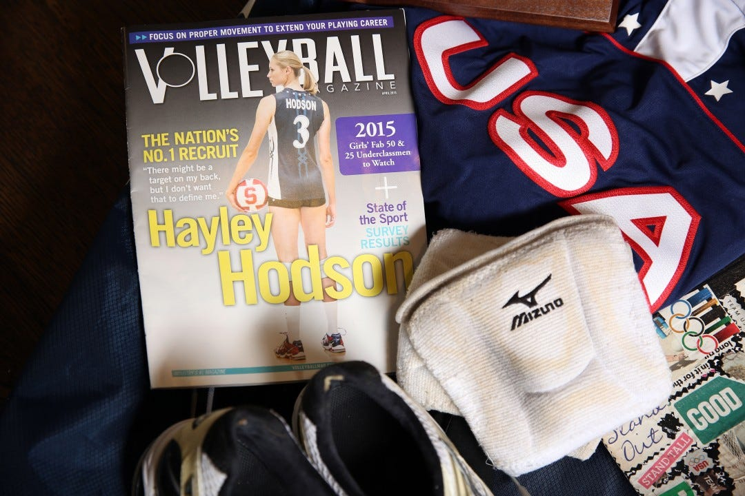 Hayley Hodson on the cover of Volleyball Magazine in 2015.