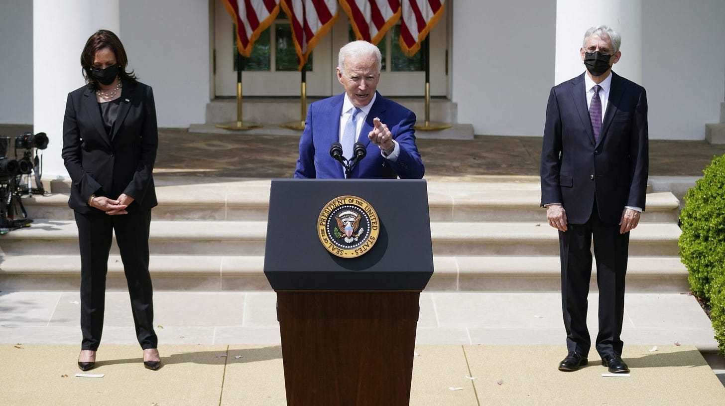 It has to stop': Biden takes initial action on guns, calls on Congress to  do more | WITF