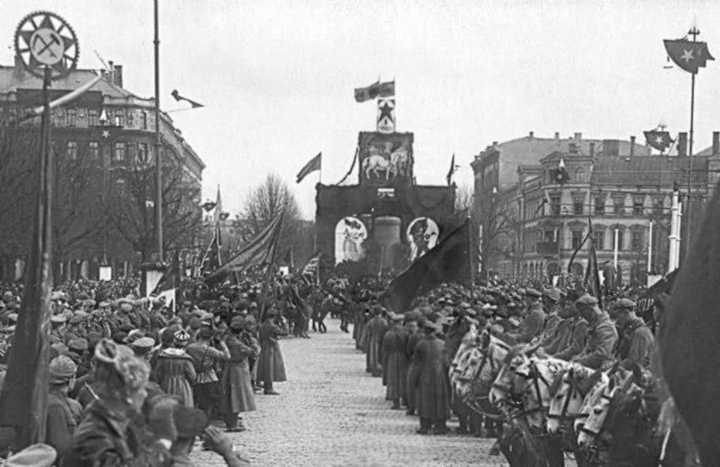 File:Holiday decorations to May 1. 1919. Riga (1).jpg - Wikimedia ...