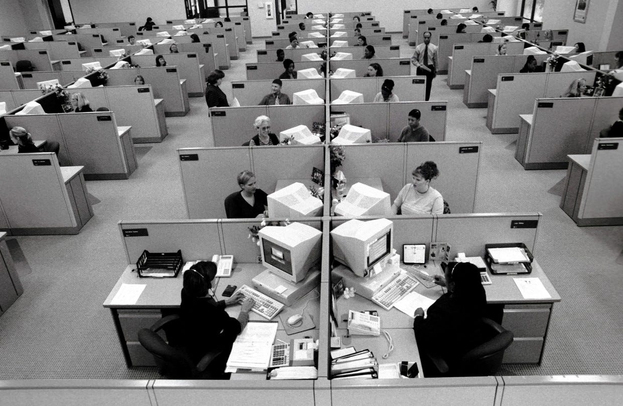 A Brief History of the Dreaded Office Cubicle - WSJ
