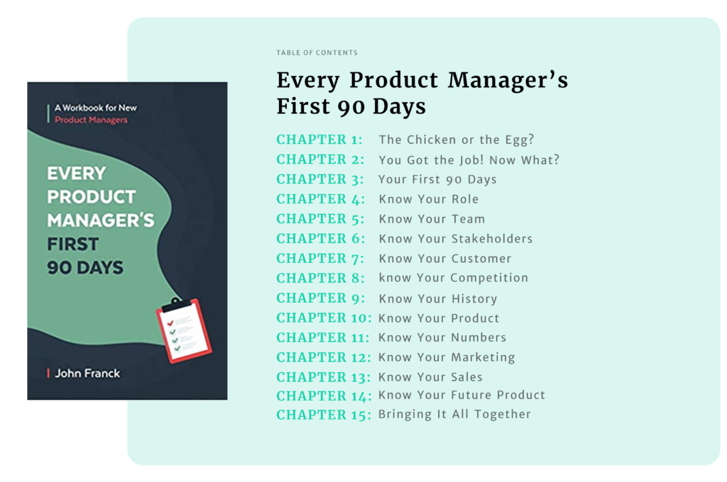 Every Product Manager's First 90 Days table of contents
