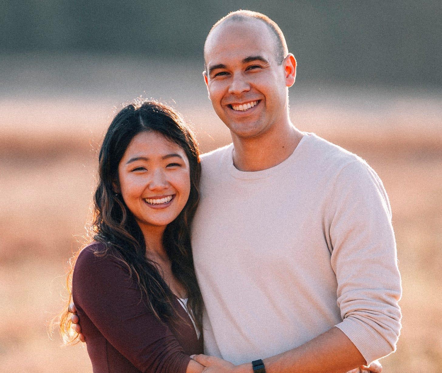 Hannah H. Kim and her husband, Carl Steib (Photo courtesy of Hannah H. Kim)