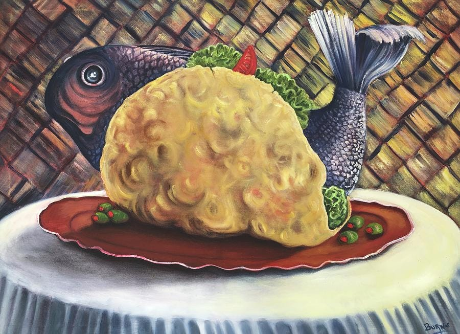 Fish Taco Painting by Randy Burns