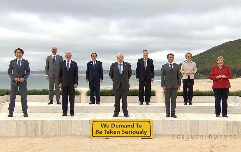 At the G7, global elite clown show pivots from COVID Crisis to Climate Crisis – G7 plans for 'the continuing destruction of Western civilization'