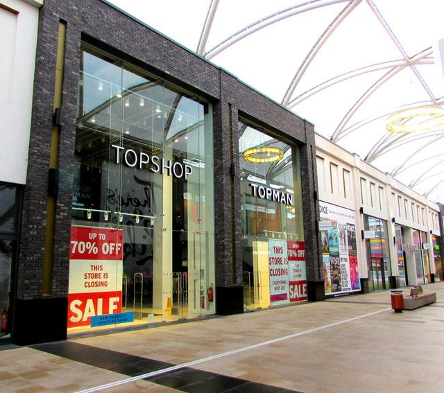 Topshop/Topman closing down sale, Friars... © Jaggery :: Geograph Britain  and Ireland