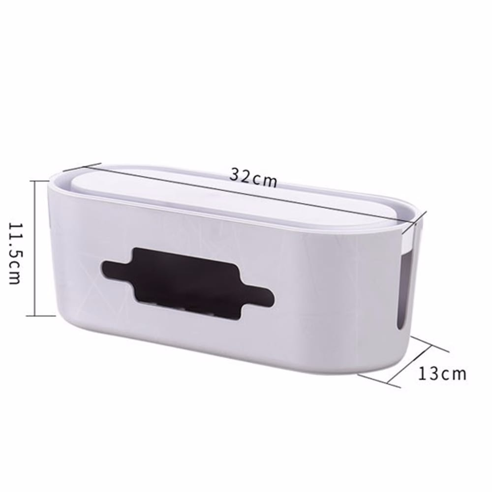 Multifunction Cable Storage Box Case Power Strip Wire Management Socket Safety Tidy Organizer