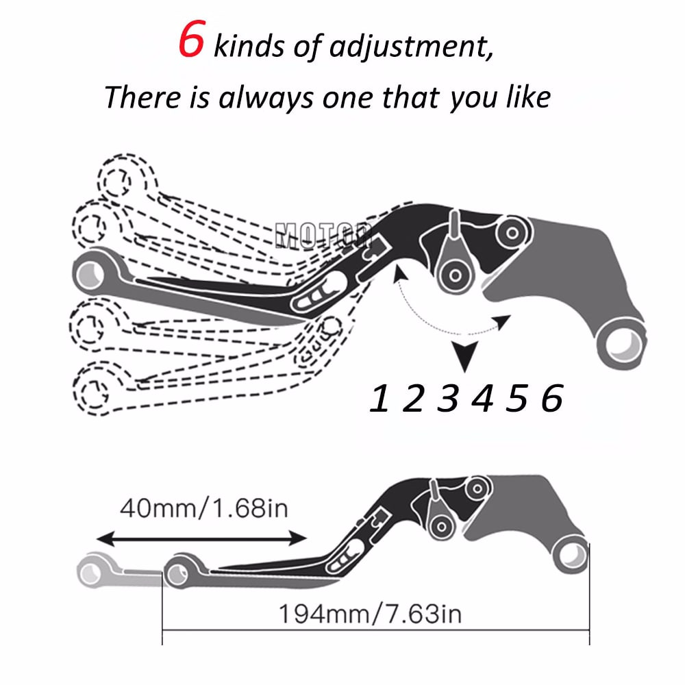 Motorcycle Brake Clutch Levers For YAMAHA WR 125 X WR 125X WR125 X WR125X 2012-2016 Adjustable Folding Brake Levers 2015 2014