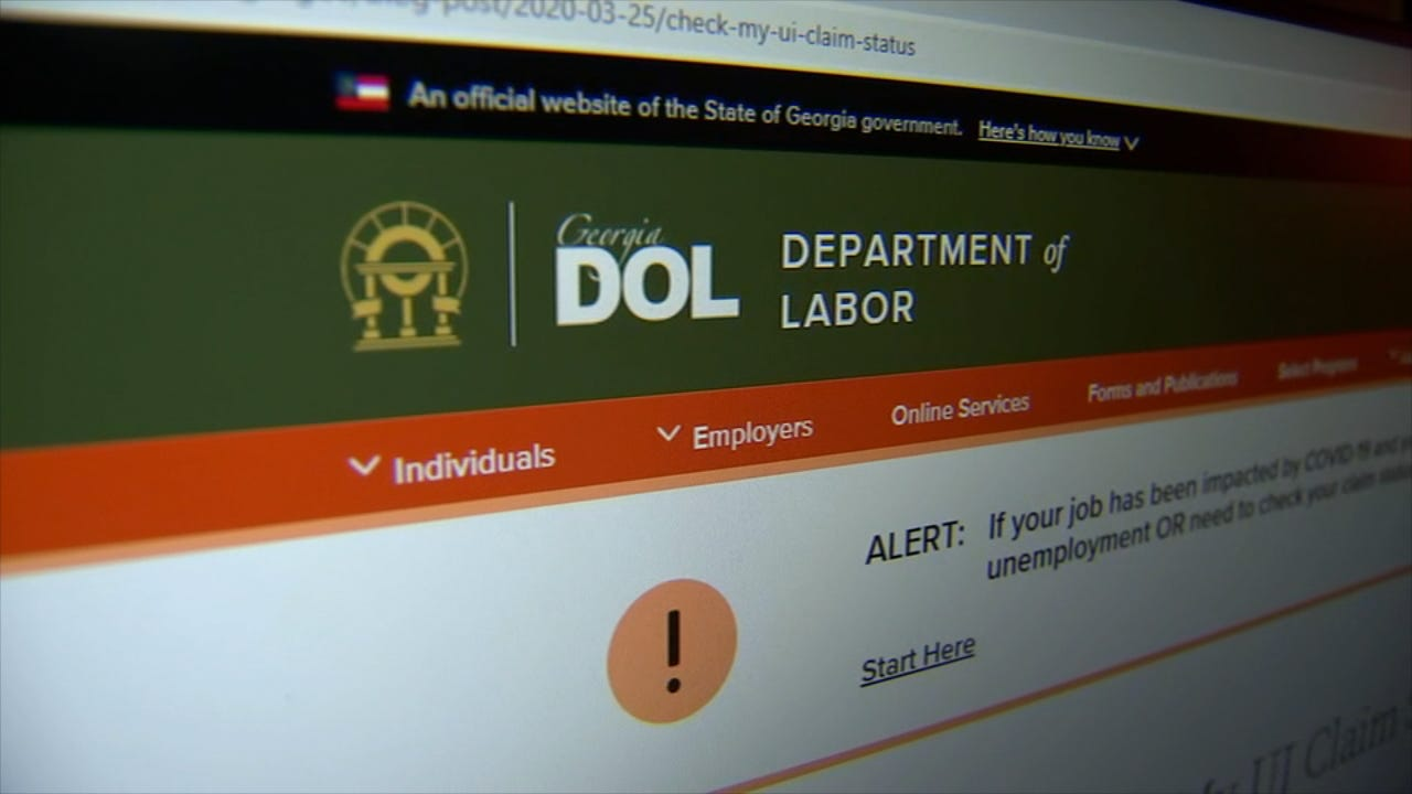 Ga. Dept. of Labor says scammers are trying to access unemployment benefit  system – WSB-TV Channel 2 - Atlanta