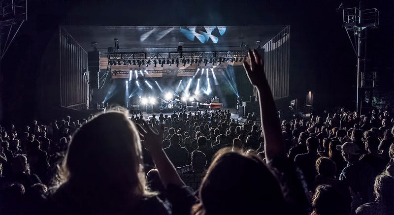 Photo of concert and fans