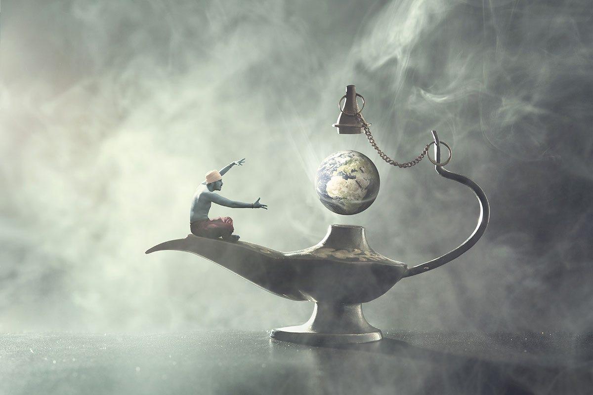 Witch Genie Potion Controlling Globe