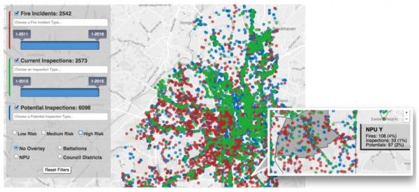 Risk Prediction Interface from Atlanta's Firebird Project
